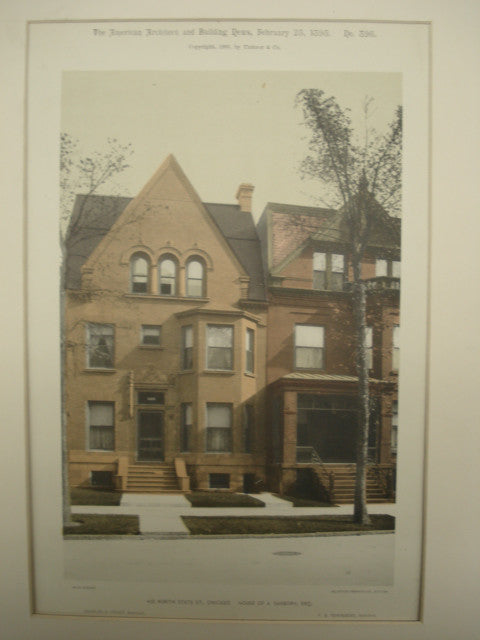 House of A. Sanborn, Esq., Chicago, IL, 1893, unknown