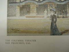 Columbia Theater , San Francisco, CA, 1909, Bliss & Faville