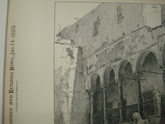 Interior of the Bardo, Tunis, AFR, 1888, Unknown