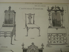 Chippendale Furniture, NA, 1883, Maurice B. Adams