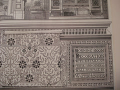 Morning Room Decoration With Details of Frieze and General Walls Surface , Not stated, 1881, Walter Hensman