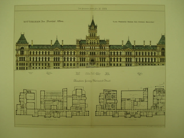 New Municipal Offices , Nottingham, England, UK, 1883, Geo. Corson