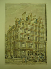Hatchett's Hotel & White Horse Cellars in Piccadilly, London, England, UK, 1883, W. S. Weatherley & F. E. Jones