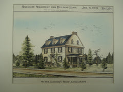 Mr. H. R. Gummey's House , Germantown, PA, 1900, Geo. T. Pearson