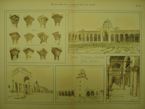 Grand Mosque , Kerwan, Tunis, AFR, 1883, Unknown