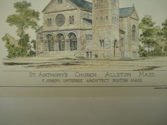 Saints Peter and Paul's Church & St. Anthony's Church , Jamestown, NY & Allston, MA, 1894, F. Joseph Untersee