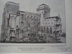 Palace of The Popes, Avignon, France, EUR, 1903, Restorations Suggested by M. Nodet