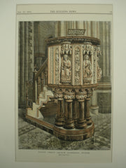 Pulpit at Christ Church Cathedral , Dublin, Ireland, EUR, 1883, Unknown