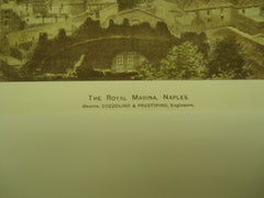 Royal Marina , Naples, Italy, EUR, 1892, Messrs. Cozzolino & Prestipino [Engineers]