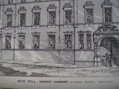 New Mill , Market Harboro, England, UK, 1882, W. Talbot Brown