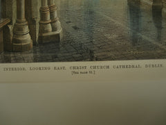 Interior, Looking East, of Christ Church Cathedral , Dublin, Ireland, EUR, 1883, Unknown