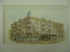 Theatre and Hotel for A. S. Paddock , Beatrice, NE, 1887, Mendelssohn & Lawrie
