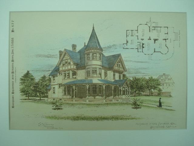 Residence of Geo. Comstock , Bridgeport, CT, 1888, Jos. W. Northrop