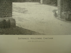 Entrance to Holcombe , Chatham, North Kent, England, UK, 1890, John Belcher
