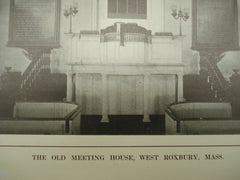 Old Meeting House , West Roxbury, MA, 1913, H. M. Seaver