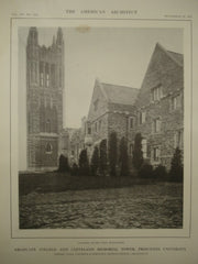 Graduate College and Cleveland Memorial Tower at Princeton University , Princeton, NJ, 1913, Cram, Goodhue & Ferguson