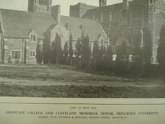 West Side of the Graduate College and Cleveland Memorial Tower at Princeton University , Princeton, NJ, 1913, Cram, Goodhue & Ferguson