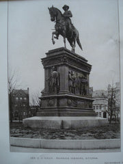 Equestrian Monuments of Gen. J.A. Logan & Gen. W.S. Hancock, Washington , DC, 1906, Franklin Simmons & H.J. Ellicott, [Sculptors]