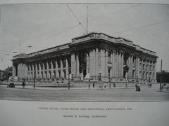 United States Court-house and Post Office , Indianapolis, IN, 1906, J. Massey Rhind, Sculptor and Rankin & Kellogg