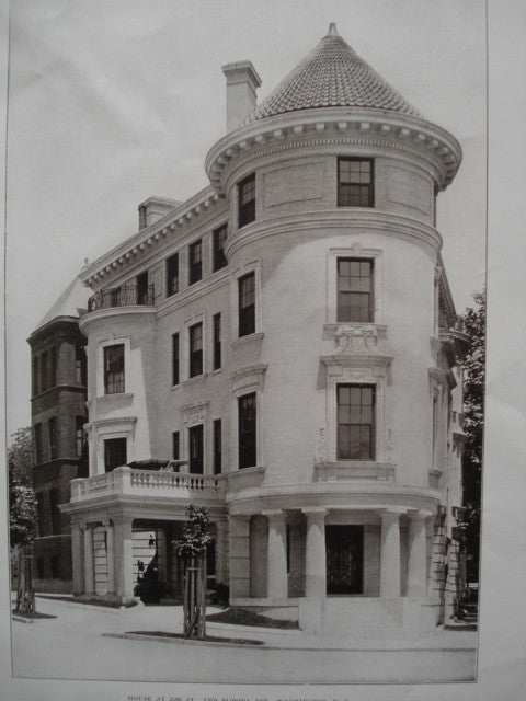 House at 22nd St. and Florida Ave., Washington , DC, 1906, Marsh & Peter