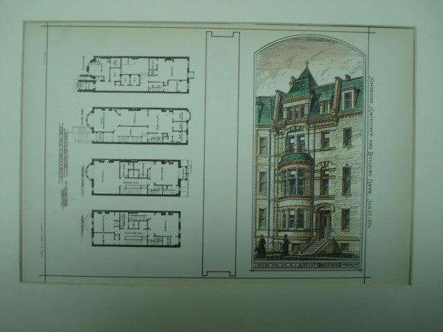 House for Dr. G. T. Moffatt , Boston, MA, 1876, W. Whitney Lewis