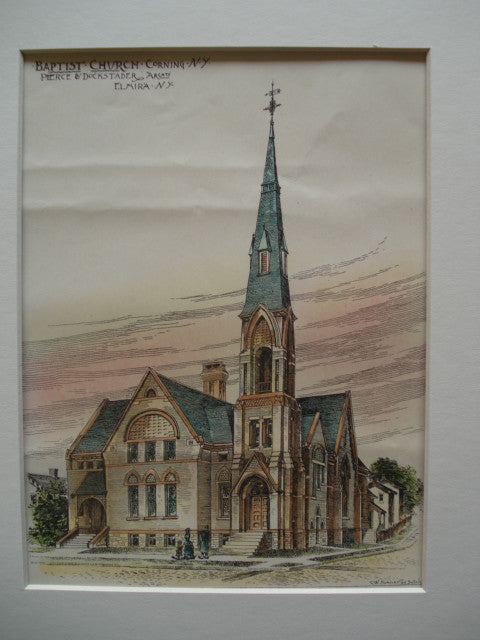 Baptist Church , Corning, NY, 1886, Pierce & Dockstader