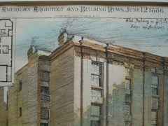Flat Building on Schiller St. , Chicago, IL, 1886, John Addison