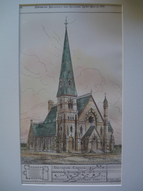Unitarian Church , Washington, DC, 1879, R.G. Russell