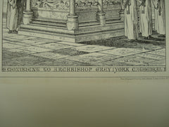 Monument to Archbishop Grey at York Cathedral , York, England, UK, 1874, Unknown