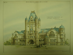 Freeman College of Applied Sciences , Inglewood, CA, 1888, Curlett, Eisen & Cuthbertson