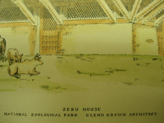 Zebu House of the Smithsonian National Zoological Park , Washington, DC, 1896, Glenn Brown