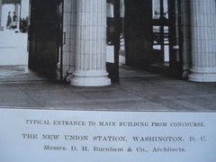 Typical Entrance to the Main Building from the Concourse of the New Union Station , Washington, DC, 1908, Messrs. D.H. Burnham & Co