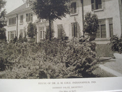 House of Dr. A.M. Cole, Indianapolis, IN, 1927, Herbert Foltz