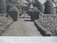 Path, The Hedges, Estate of W.G. Gallowhur, Scarsdale, NY, 1927, Charles Wellford Leavitt & Son