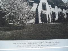 House of Mrs. Laura B. Levering, Greenwich, CT, 1927, Phelps Barnum and B.W. Close
