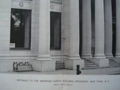Entrance to the American Surety Building, Broadway, New York, NY, 1896, Bruce Price