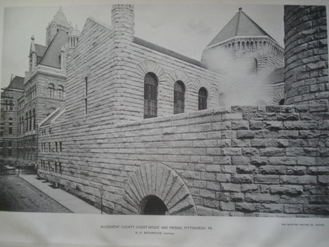 Allegheny County Court-House and Prison , Pittsburgh, PA, 1895, H.H. Richardson