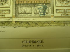 Two Sideboards , 1877, Morlock & Bayer and Ferry & Gardner