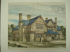 Hunting Lodge in Winchfield, Hampshire, England, UK, 1883, T. E. Collcutt