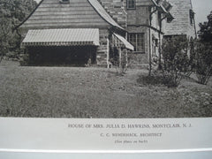 House of Mrs. Julia D. Hawkins, Montclair, NJ, 1927, C.C. Wendehack