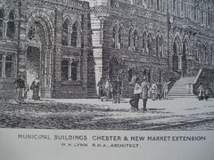 Municipal Buildings on Chester & New Market Extension , England, UK, 1881, W.H. Lynn