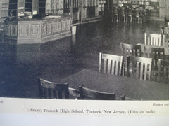 Library in the Teaneck High School, Teaneck, NJ, 1930, Hacker and Hacker