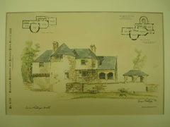 Gate Lodge and Farm House for Mr. E. H. Johnson , Alta Crest, Greenwich, CT, 1888, Carrere and Hastings