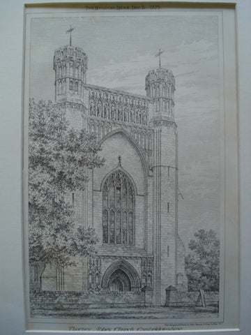 Thonrey Abbey Church , Cambridgeshire, England, UK, 1875, Unknown