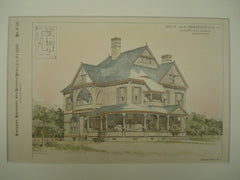 House for C. A. Wilkinson, Esq., Binghamton, NY, 1888, T. I. Lacey & Son
