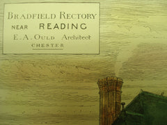 Bradfield Rectory , Reading, UK, 1883, E. A. Ould