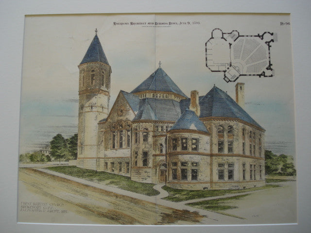 First Baptist Church , Bridgeport, CT, 1894, J.W. Northrop