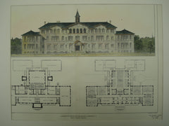 Competitive Design for a High School , Plainfield, NJ, 1903, Edgar A. Joselyn