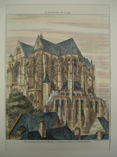 Collegiate Church of St. Michael , St. Quentin, France, EUR, 1880, C. H. Rew