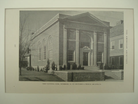 First National Bank , Peterboro, NH, 1926, Hutchins & French